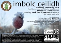 Flyer for Reforesting Scotland Imbolc Ceilidh 2008