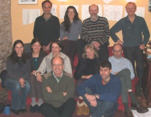 Photo of some of Reforesting Scotland's directors and staff, Weem, March 2009