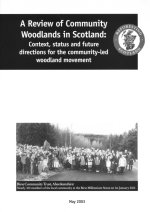 Cover of the Review of Community Woodlands in Scotland report